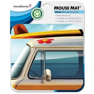 Deluxe Mouse Mat- Beach Bus