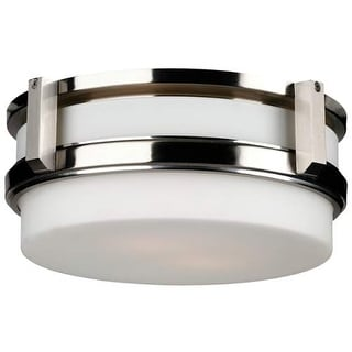 "Forecast Lighting F611036 2 Light 12"" Wide Flush Mount Ceiling Fixture from the 27th Street Collection"