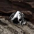 Vienna Jewelry Alien Skull Stainless Steel Ring - Thumbnail 1