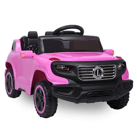 Electric Car with 6V Children Car Pre-Programmed Music and Ride on Car Remote control
