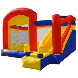 Cloud 9 Mighty Bounce House - Super Slide - Inflatable Kids Jumper without Blower