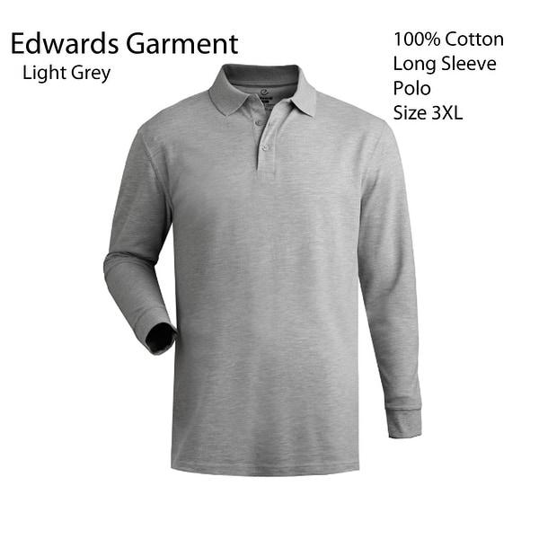 Mens Long Sleeve Polo Size 3Xl 100% Cotton