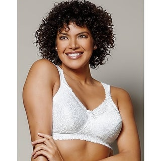 Playtex 18 Hour Comfort Lace Wirefree Bra - Size - 48DD - Color - White