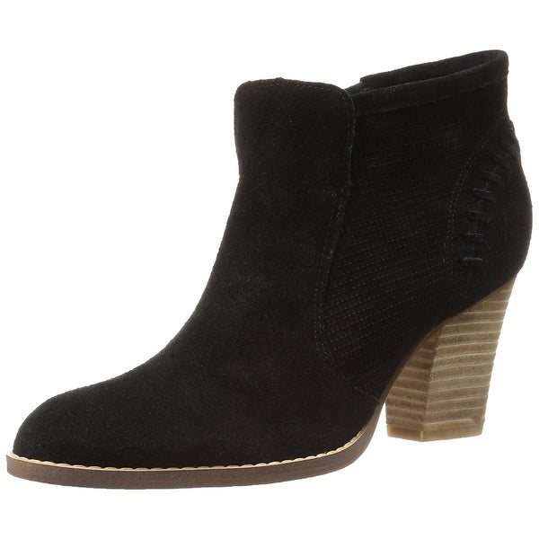 Marc Fisher Womens Cadis Suede Almond Toe Ankle Fashion Boots
