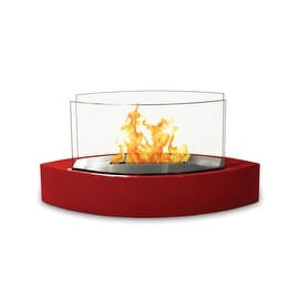 Lexington(High Gloss Red) Table Top Bio Ethanol Ventless Fireplace