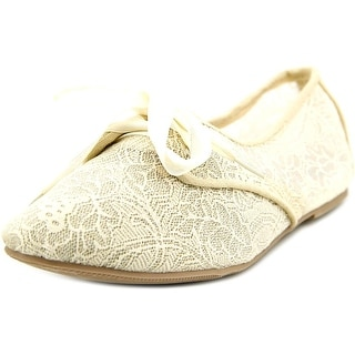 Sarah Jayne Lace Shimmer Round Toe Canvas Flats