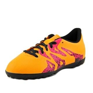 Adidas X15.4 TF J Youth Round Toe Leather Orange Cleats