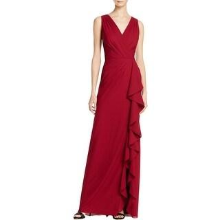 Aidan Mattox Womens Evening Dress Crepe Pintuck