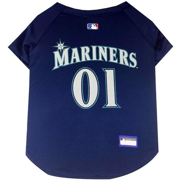 buy popular 4b9e1 320a7 Shop MLB Seattle Mariners Pet Jersey - On Sale - Free ...