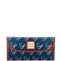 Dooney & Bourke NFL Houston Texans Continental Clutch Wallet (Introduced by Dooney & Bourke at $128 in Aug 2016)