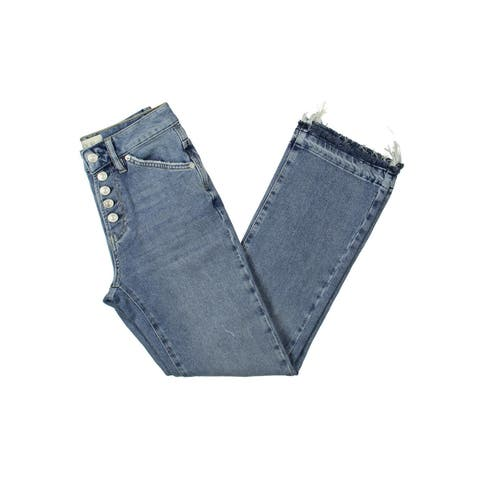 Free People Womens Dylan Bootcut Jeans Denim Distressed