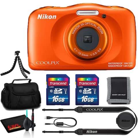 Nikon Coolpix W150 Digital Camera (Orange) - Extra Essentials Kit