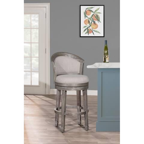 "Hillsdale Furniture Monae Swivel Bar Stool, Dark Gray, 30"""