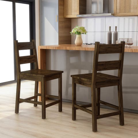 Copper Grove Samobor Rustic Counter Height Chairs (Set of 2)
