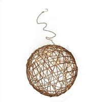10 in. Warm White LED Lighted Hanging Wire Ball Christmas Ornament
