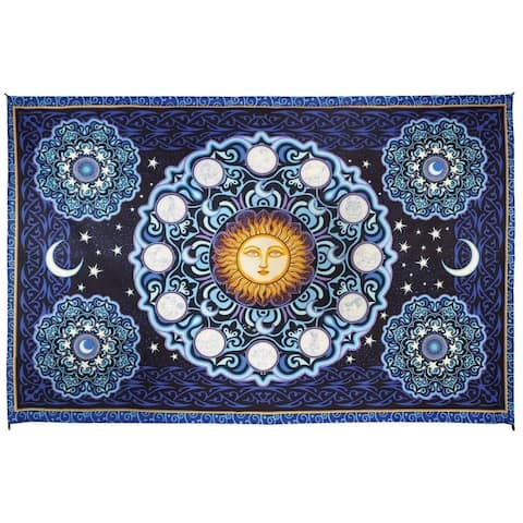 3D Zodiac Mini Celestial Tapestry Wall Hanging Astrology Hippie Fabric Poster