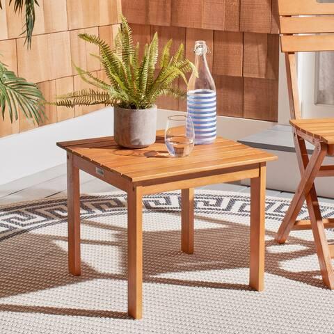 "Safavieh Outdoor Living Randor Folding Table - 18.5""x18.5""x15.7"""