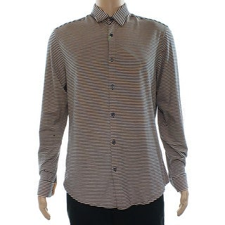 Boss Hugo Boss NEW Orange Mens Size Large L Button Down Striped Shirt