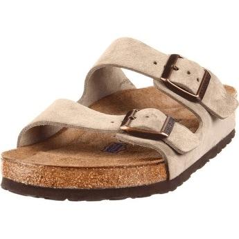 Birkenstock Unisex Arizona Taupe Suede Sandals - 11-11.5 2A(N) US Men
