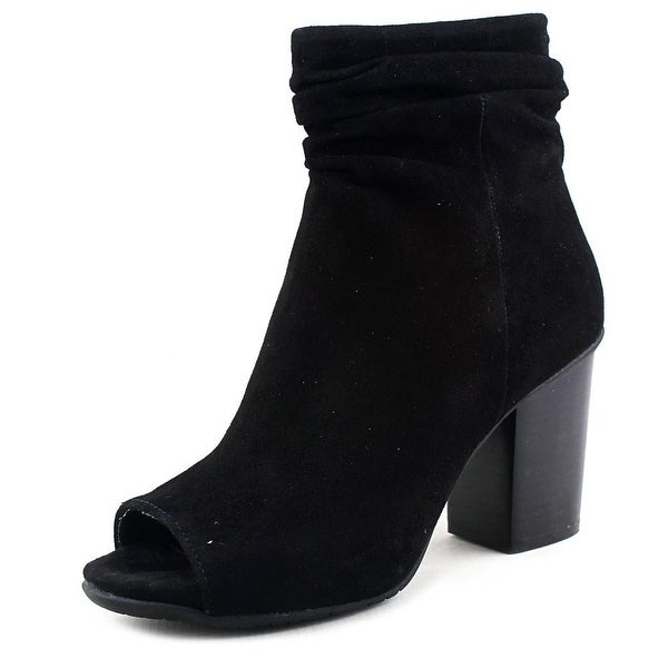 Kenneth Cole Reaction Frida Cool Women Open-Toe Suede Black Bootie