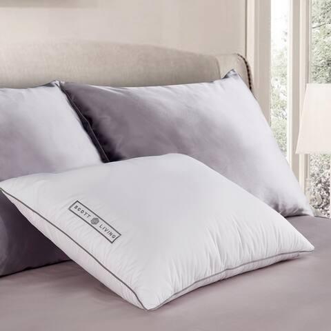 SCOTT LIVING White Down Fiber Pillow
