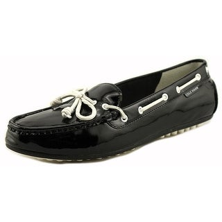 Cole Haan Grant Lte Women Moc Toe Patent Leather Black Loafer