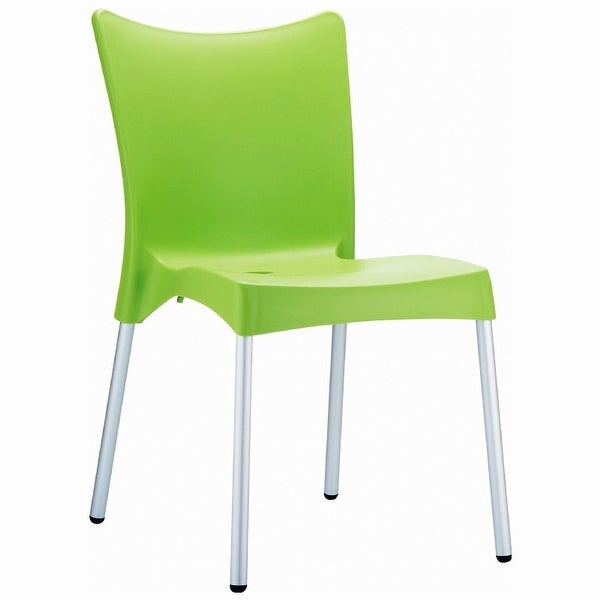 Juliette Resin Dining Chair - Set of 2 (Apple Green) - Green