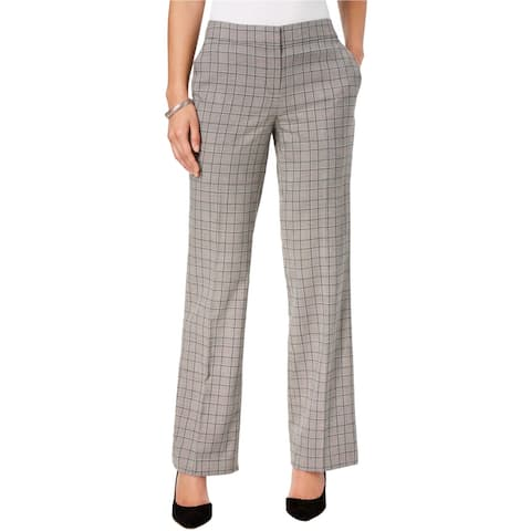 Nine West Womens Plaid Dress Pants