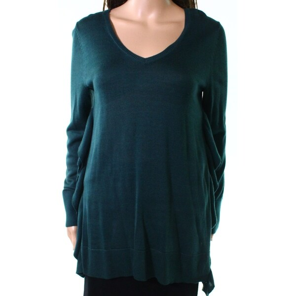 Cupio Emerald Green Womens Size Small S Knitted V-Neck Sweater