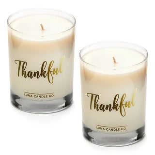 Strong Scented Apple Cinnamon Candle, Soy Wax, Long Burn (2 Pack)