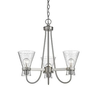 "Millennium Lighting 2323 Layton 3 Light 21"" Wide Chandelier with Glass Shades"