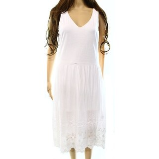 Lauren Ralph Lauren NEW White Women's Size Large L Sheath Solid Dress