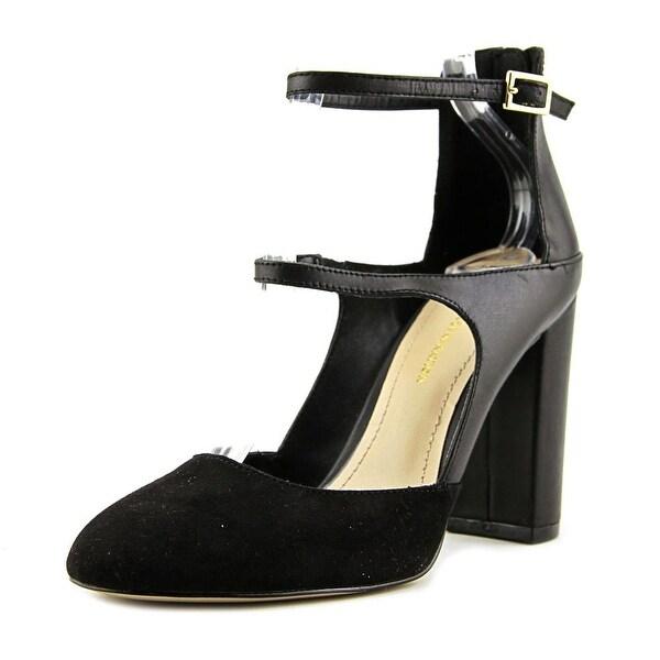 BCBGeneration Leissa Women Round Toe Suede Black Heels