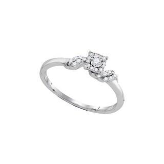 1/5Ctw-Dia Bridal Engagement Ring 10K White-Gold