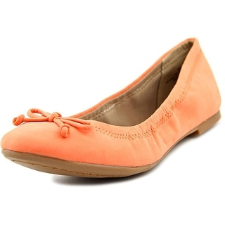 Restricted Cosmo Round Toe Synthetic Ballet Flats