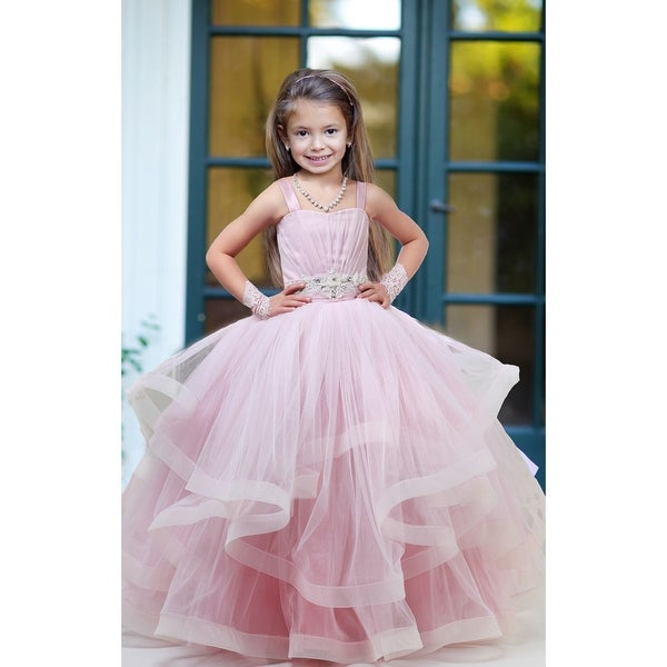 a3464a7ed675 Triumph Dress Little Girls Dusty Rose Multilayer Monica Flower Girl Dress