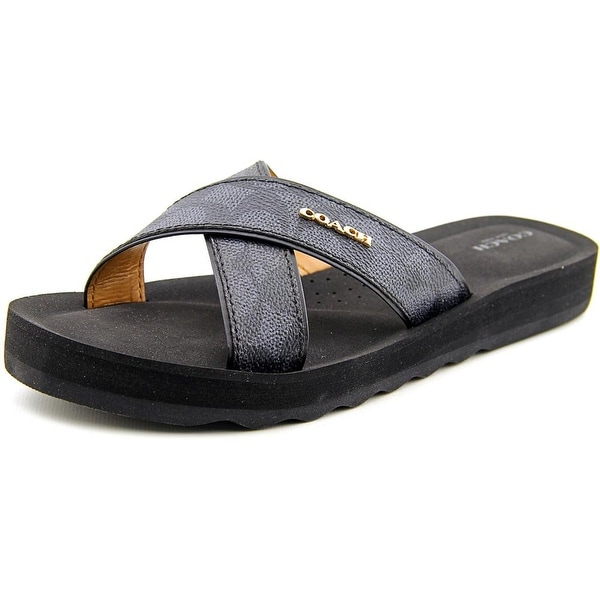 Coach Janine Open Toe Synthetic Slides Sandal