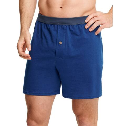4181c0ddef90 Hanes Men's TAGLESS® ComfortSoft® Knit Boxers with ComfortSoft® Waistband  5-Pack -