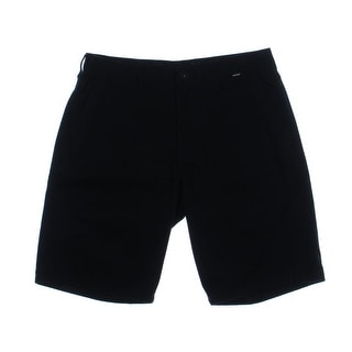 Hurley Mens Twill Flat Front Bermuda, Walking Shorts - 33