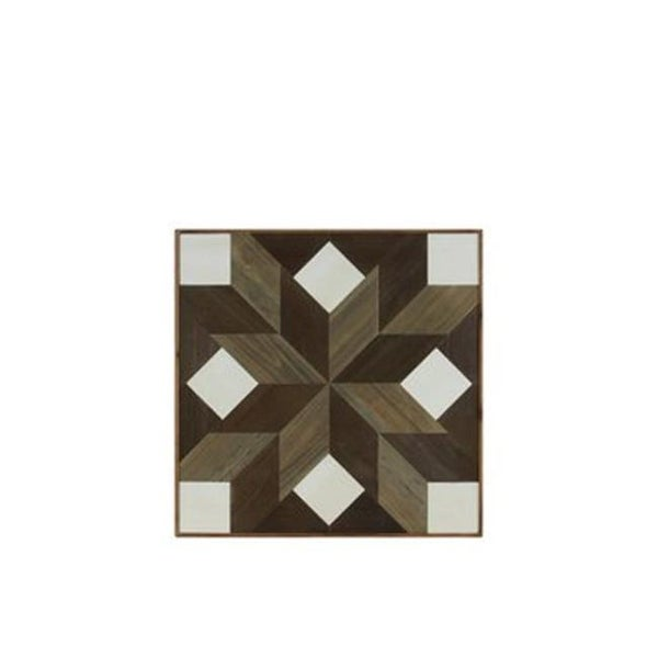 Wood Parquet Wall Art With Lemoyne Star Squares Pattern Free Shipping Today 24841825