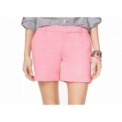 Tommy Hilfiger Pink Womens Size 16 Hollywood Flat-Front Khaki Shorts