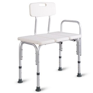 Costway Shower Bath Seat Medical Adjustable Bathroom Bath Tub Transfer Bench Stool Chair