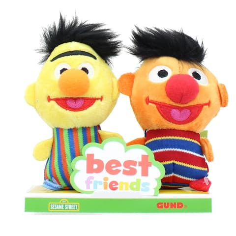 Sesame Street Bert and Ernie 4 Inch BFF Plush Set - Orange