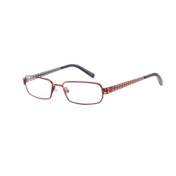 Converse Opthalmic Eyeglass Unisex Modified Rectange Metal Frame Denial Red - Medium