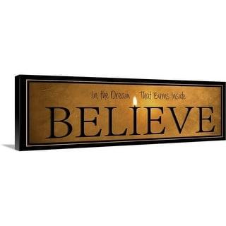 """""""Believe"""" Canvas Wall Art"""