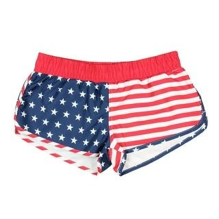 American Flag Women's Printed Board Shorts