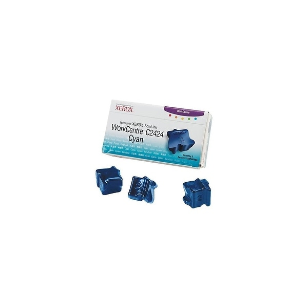 Xerox Solid Ink Stick, Cyan Solid Ink Stick