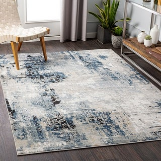 Artistic Weaversfontaine Modern Abstract Area Rug 7 10 X 10 Denim Dailymail
