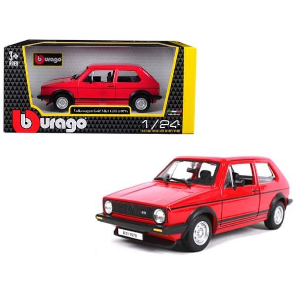 Shop 1979 Volkswagen Golf Mk1 Gti Red With Black Stripes 1 24 Diecast Model Car By Bburago On Sale Overstock 25486773