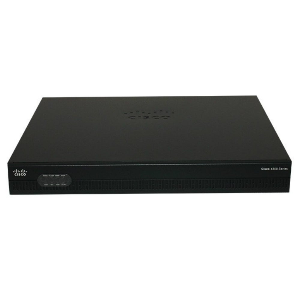 Cisco ISR4321/K9 Cisco 4321 Router - 2 Ports - Management Port - 4 Slots -  Gigabit Ethernet - 1U - Rack-mountable, Wall